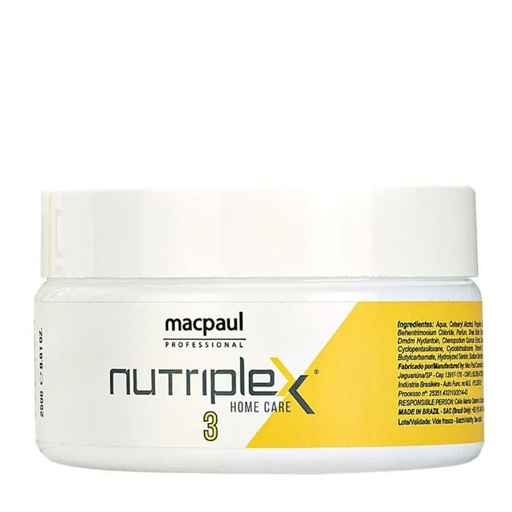 Máscara Mac Paul Nutriplex Nº3 250g