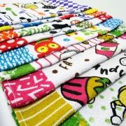 Kit 12 toalhas de Copa Daltextil 40 x 65 Estampado Sortido