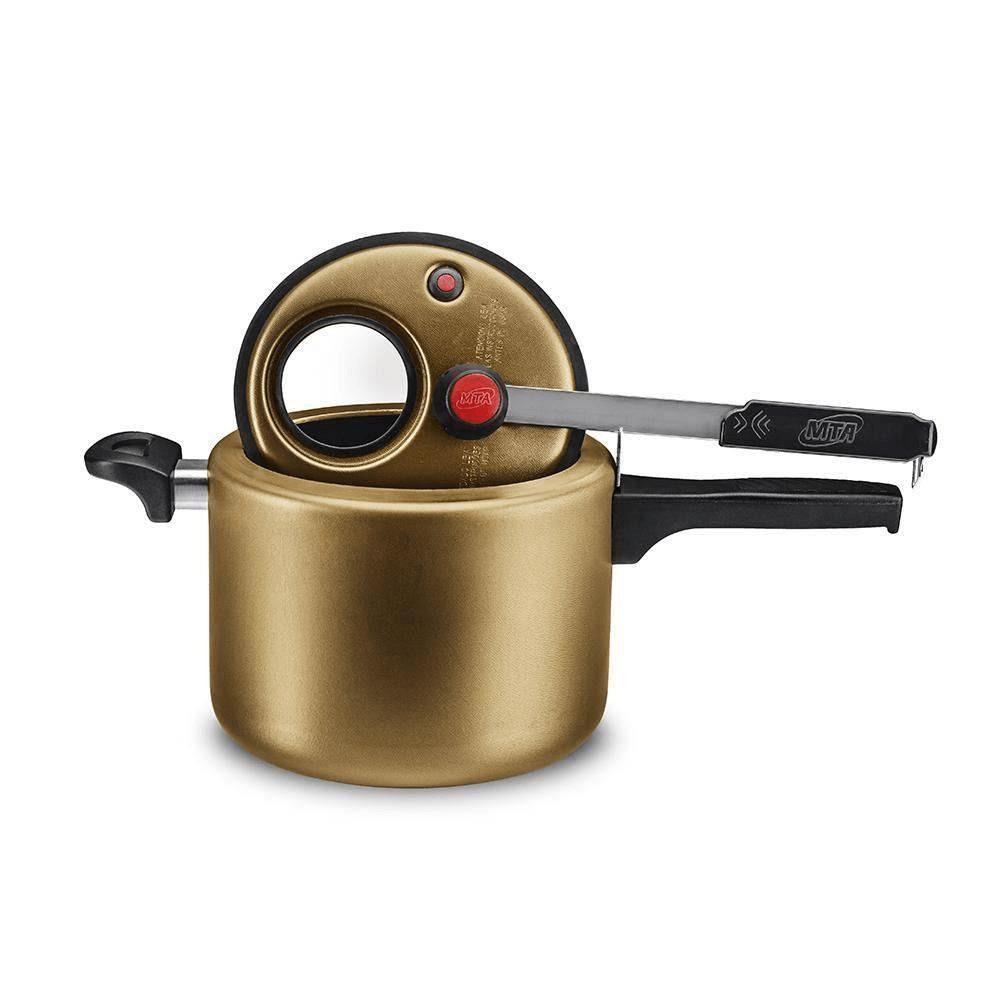 Panela De Pressão Com Visor Mta 4,5 Litros Gold Mta