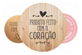 200 Tag Adesiva Personalizada Produto Feito Com Amor Coração