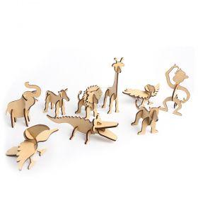 Arca de Noé com animais - MDF 3mm Cru - Yper Criativo