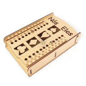 Caixa 2 Baralhos Truco com Marcador MDF - Yper Criativo