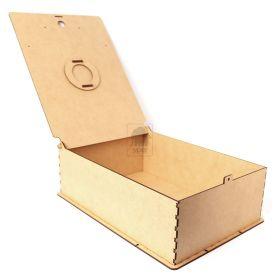Caixa Escolar estilo maleta com elástico e encaixe para cadeado - MDF 3mm Cru - Yper Criativo