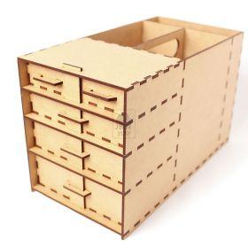 Caixa Organizadora de Ferramentas com Trava nas Gavetas MDF 3mm - Yper Criativo