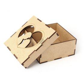 Caixa Sapato com Casal 11x11x5cm - MDF CRU 3mm - Yper Criativo