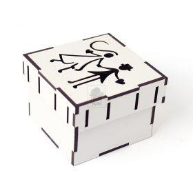 Caixa Sapato Pequena Passa Fita - MDF Branco 3mm - Yper Criativo