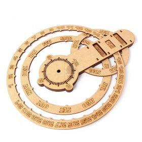 Calendário Permanente Perpétuo Relógio De Parede Em Mdf
