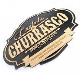 Cantinho Do Churrasco Placa Decorativa Grande Mdf
