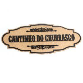 Cantinho Do Churrasco Placa Quadro Madeira