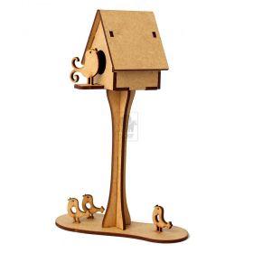Casa Passarinho em madeira MDF
