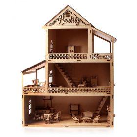 Casinha de Boneca Polly com 32 Móveis