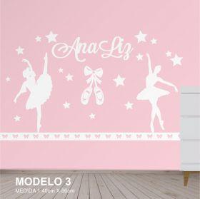 Painel Decorativo para Quarto Infantil Bailarinas - MDF Yper Criativo