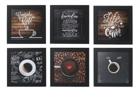 Kit 6 Quadros Decorativos Cantinho Do Café