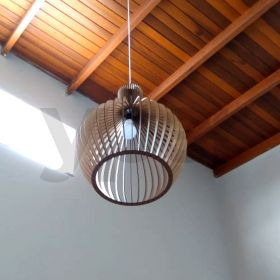 Luminária Pendente Grande Decoração Casa Mdf