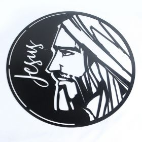 Mandala Jesus Quadro Decorativo Mdf Preto
