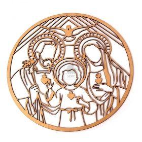 Mandala Quadro Redondo Sagrada Família Decoração Madeira - Yper Criativo