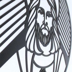 Mandala Sagrado Familia Coração Jesus Quadro Religioso Mdf