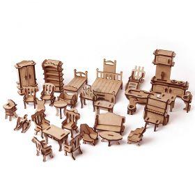 Móveis para casinha de boneca Lol Polly 32 Móveis em MDF