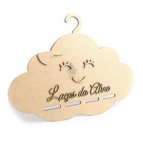 Nuvem Cabide com Carinha Porta Laços (Personalizado)