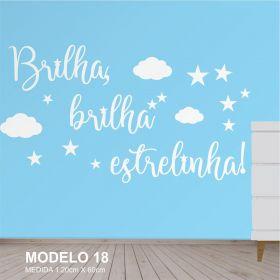Painel Decorativo Quarto Infantil Brilha Estrelinha Mdf Cru