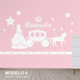 Painel Decorativo Quarto Infantil Princesa Carruagem Mdf Cru