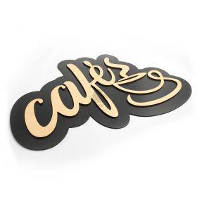 Placa Cantinho Do Café Madeira MDF Crua Linda