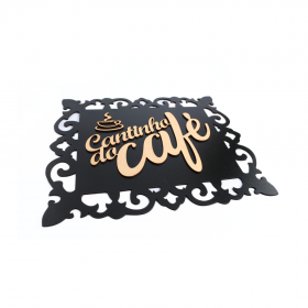 Placa Decorativa Cantinho Do Café Mdf - Retangular