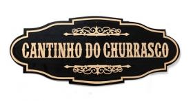 Placa Decorativa Cantinho Do Churrasco 60cm Madeira Mdf