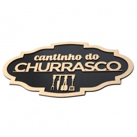 Placa Decorativa Cantinho Do Churrasco Churrasqueira Bar Mdf