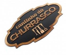 Placa Decorativa Cantinho Do Churrasco Madeira Rustica