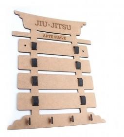 Porta 4 a 6 Faixas Com Nome Jiu-jitsu Taekwondo Karate Medalhas (Personalizado)