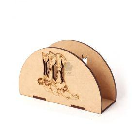 Porta Guardanapo Country Fazenda Fazendinha Personalizado Gravação Laser Mdf - Yper Criativo