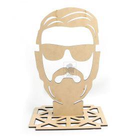 Porta Oculos Para Barbearia Barbeiro Cabeleireiro MDF Cru