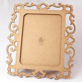 Porta Retrato com Arabesco para Foto 20x15cm MDF Cru - Yper Criativo