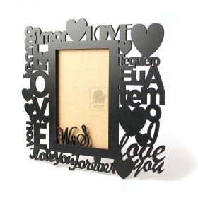 Porta Retrato Inicias Palavras de Amor (Personalizado)