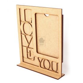Porta Retrato Love You 10x15cm Vertical Cru - Yper Criativo