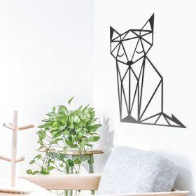 Quadro Decorativo Raposa Animais Geométricos Mdf