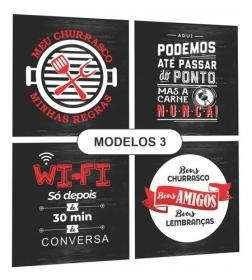 Quadro Espaço Area Gourmet Cantinho Churrasco Preto/vermelho