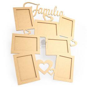 Quadro Familia 7 fotos 10x15 tamanho 60x50cm