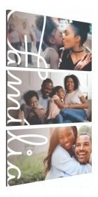 Quadro Família Personalizado com sua foto 85x50cm