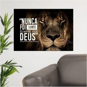Quadro Leão De Judá Nunca Foi Sorte Sempre Foi Deus