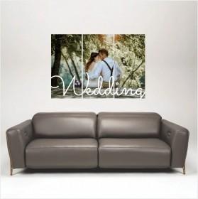 Quadro Wedding Casamento Personalizado com sua foto 85x60cm