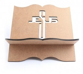 Suporte Porta Biblia Jesus Cruz