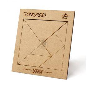 Tangram Original Personalizado - Quebra Cabeça Infantil Para Recreação em Madeira MDF - Yper Criativo