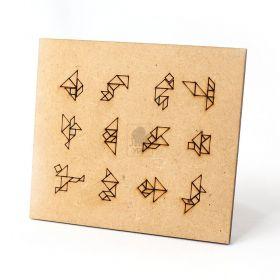 Tangram Original Quebra Cabeça Infantil Brinquedo Educativo