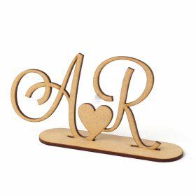 Topo De Bolo Para Casamento Iniciais Personalizado Mdf Cru - Yper Criativo