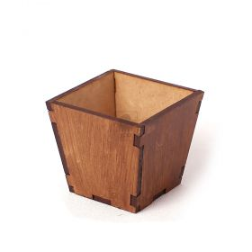 10 Vasinhos Cachepot Cachepô Pequeno Mdf Cru - Yper Criativo