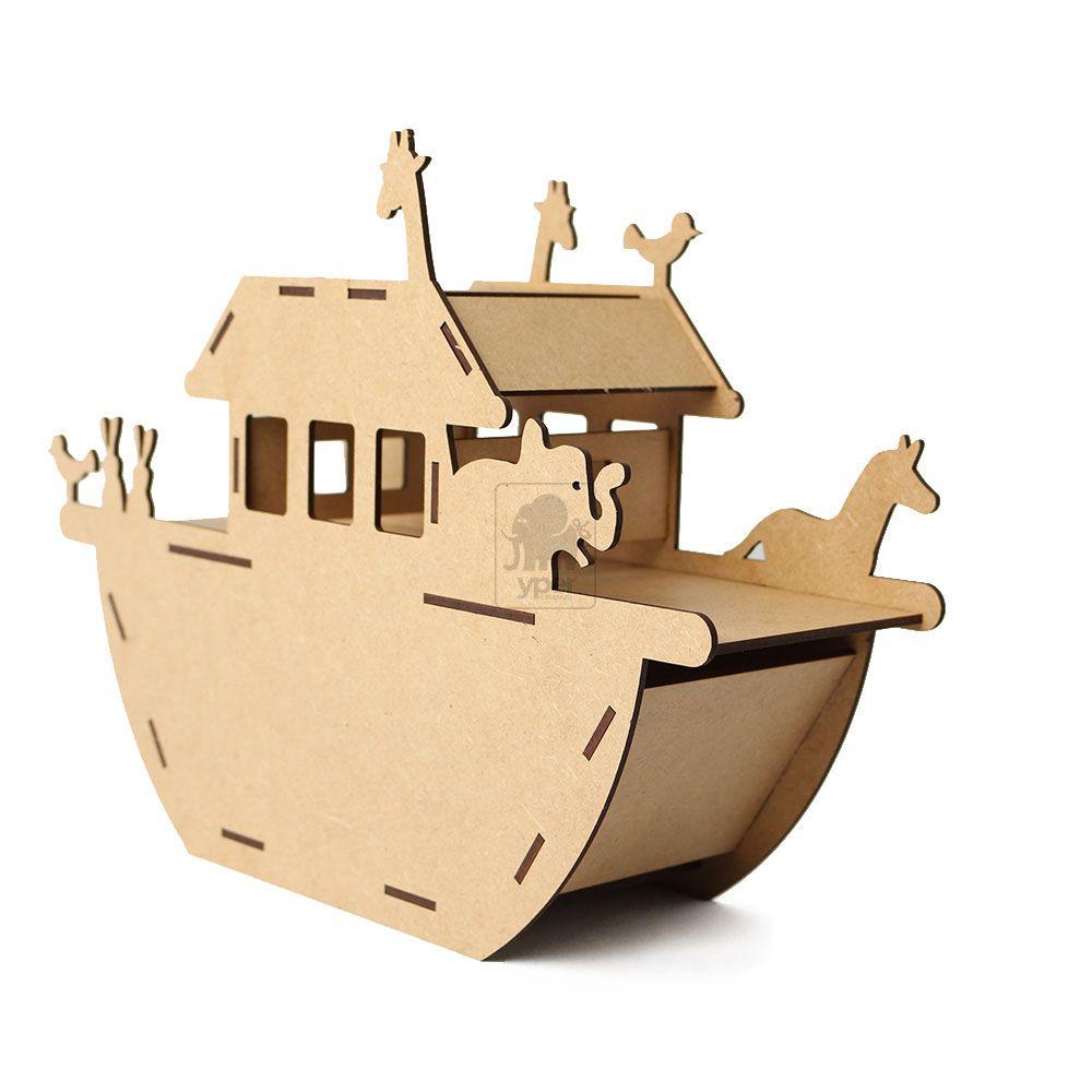 Arca De Noé Com Animais Mdf
