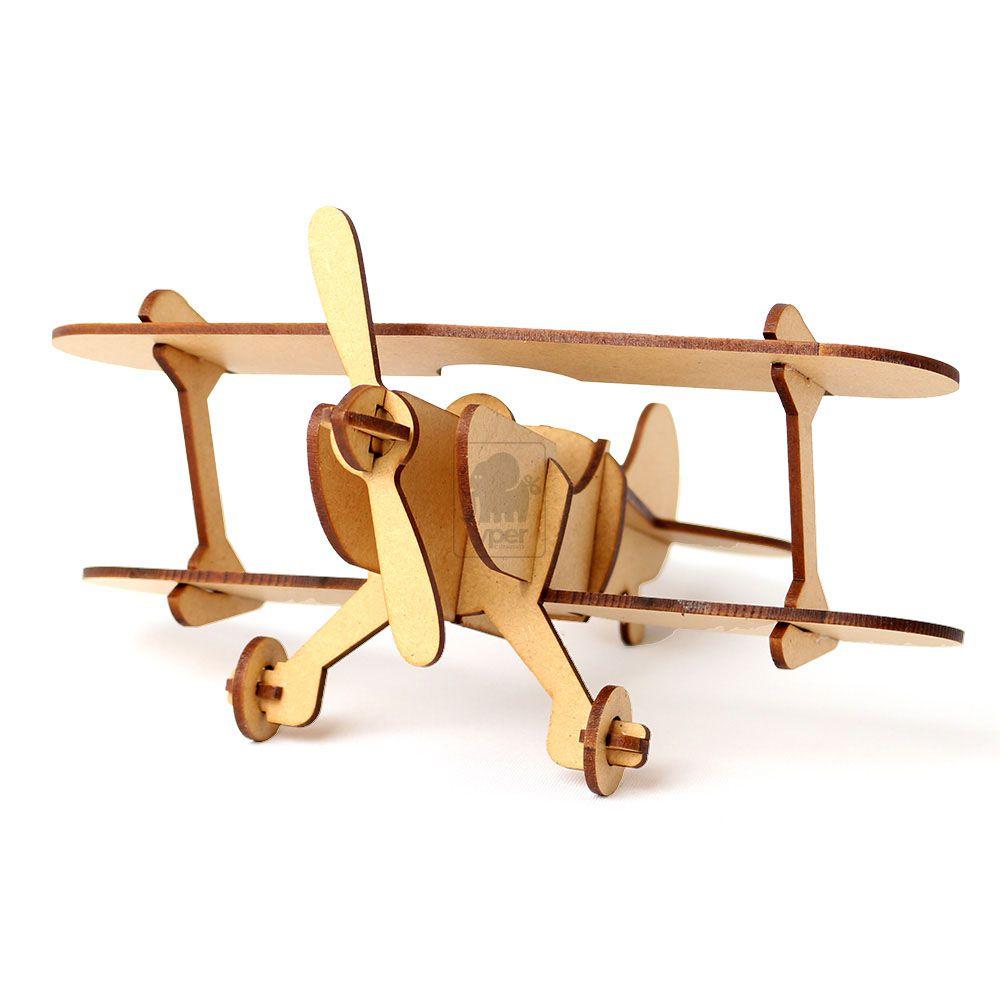 Avião Em Mdf Kit 12 Aviãozinhos 3d