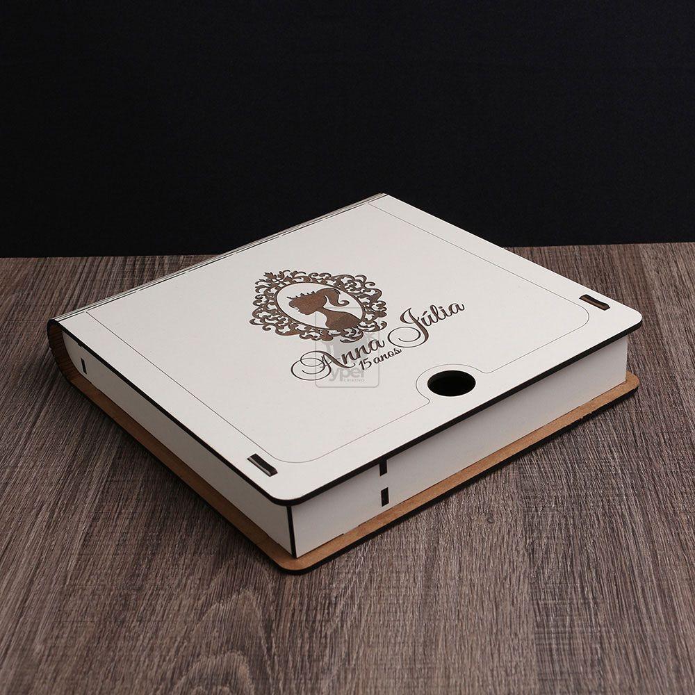 Caixa Foto Pendrive Case DVD Bluray Mdf Branco (Personalizado)